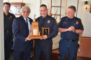 Monterey County Fire Chiefs Association 2015 Career Firefighter of the Year, Firefighter Anthony Pardo from the Marina Fire Department.