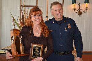 Monterey County Fire Chiefs Association 2015 Support Person of the Year, Karry Kuntz from the Monterey County Regional Fire District.
