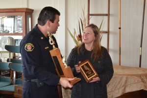 Monterey County Fire Chiefs Association 2015 Volunteer Firefighter of the Year, Fire Chief Cheryl Goetz from the Mid Coast Fire Brigade.